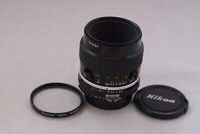 Nikon Manual Focusing  Micro Nikkor 55mm f/2.8 Ai-s Lens in Excellent Cond