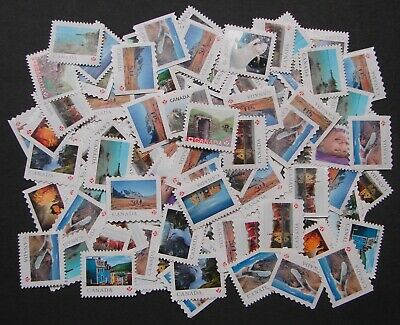 100 P Stamps - Uncancelled Postage - No Gum - Off paper