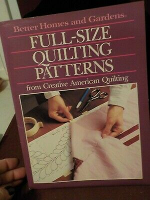 Vintage 1989 Better Homes & Gardens Full-Size Quilting Patterns American Quilt