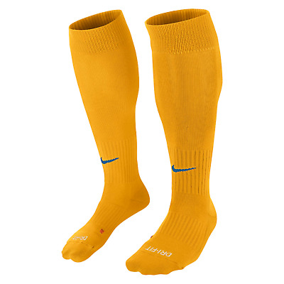 nike classic football sock yellow / blue size 8 9 10 11 12 13 14 mens adult new