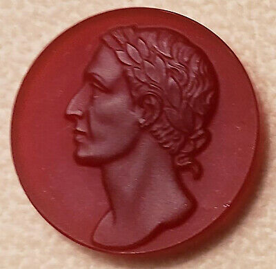 ANTIQUE LOOSE CARNELIAN AGATE CAMEO PORTRAIT OF CONSUL or ROMAN EMPEROR?