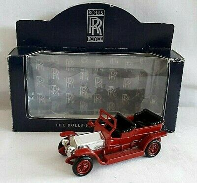 Lledo 1907 Rolls Royce Silver Ghost Car Red Silver Rolls Royce Collection Boxed