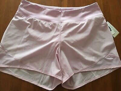 """NWT Women's Old Navy Active Go Dry Running Shorts Lilac Lavender Size Large 5"""""""