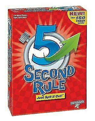 PlayMonster 5 Second Rule Game -150 cards & timer- New Edition NIB Sealed