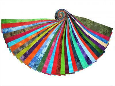 34 2.5 Inch Jelly Roll Strips Tie Dyes 34 Different Colorways