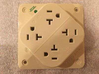 HUBBELL WIRING DEVICE-KELLEMS Receptacle -HBL420HI- 20A, 125V, 5-20R, 3 Wire