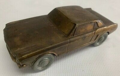 Vintage 65' Ford Mustang Metal Piggy Bank 1974 Collectable Car