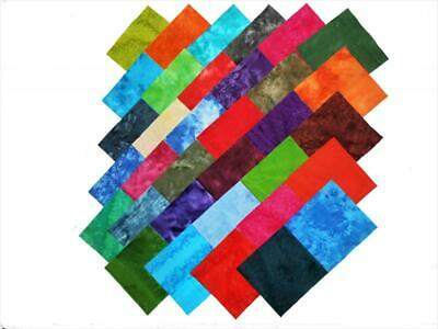 68 5 Inch Quilting Squares Tie Dyes Charm Pack 34 Different Colorways