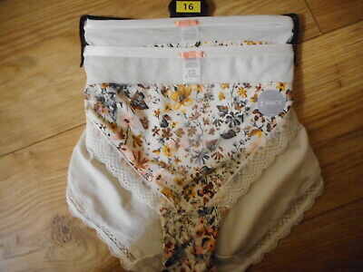 2 X MARKS /& SPENCERS  BRIEFS SIZE UK 10  LESS THAN HALF PRICE BNWOT