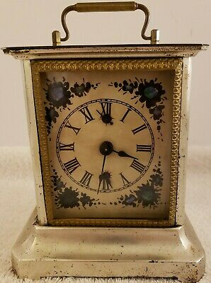 Antique Working JUNGHANS Victorian Carriage Clock Musical Alarm Clock Germany