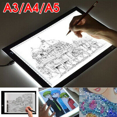 A5 LED Digital Graphic Drawing Tablet Dimmable Brightness Light Pad Board
