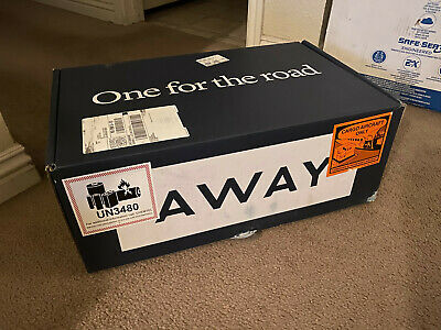 Brand new AWAY TRAVEL Carry-On Luggage with Ejectable Battery NAVY