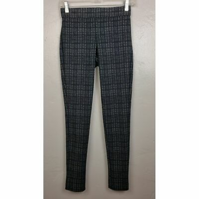 Theory Adbelle K Houndstooth Plaid Straight Pull on Pants Leggings  Size P XS
