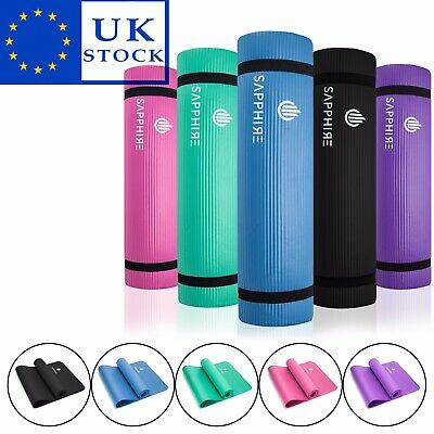 THICK 10mm NBR Foam Yoga Mat For Pilates Exercise Gym Exercise WITH CARRY STRAP