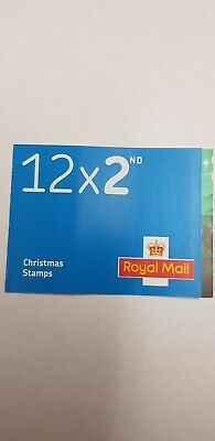 2019 Royal Mail Christmas Stamps 2nd class book of 12 - new and unused