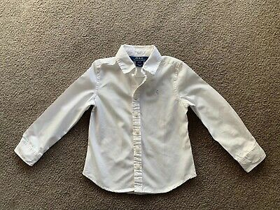 Boys Ralph Lauren Oxford Shirt Size 3T Age 3 Years 4 Years White With Polo Pony