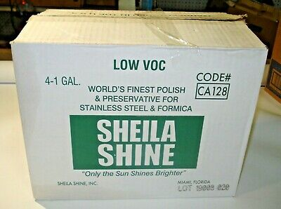 Sheila Shine SSCA128 Stainless Steel Cleaner & Polish, 1 Gal Can, 4 / carton