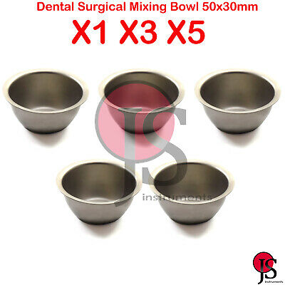 Dental Clinic Lab Implant Bone Mixing Bowl Cup Stainless Steel 50X30mm Surgical
