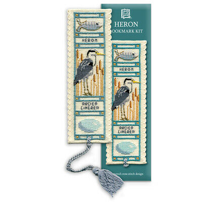 Heron - A Textile Heritage Counted Cross Stitch Bookmark Kit