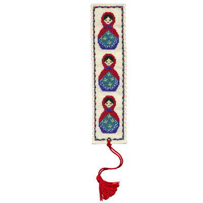 Russian Dolls - A Textile Heritage Counted Cross Stitch Bookmark Kit