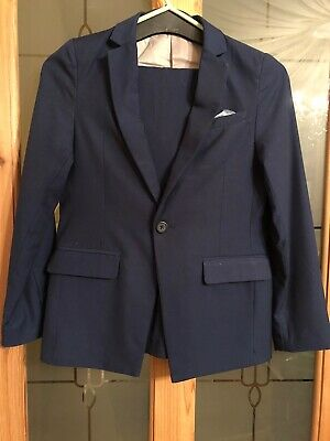 River Island Boys Fitted Blue Suit - Immaculate Condition Aged 11 Years