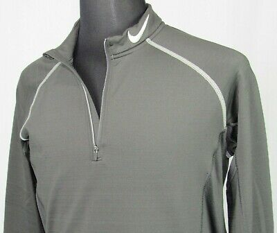 Men's Nike Pro Dri-Fit Stretch 1/2 Zip Pull Over Athletic Jacket Fitted Large
