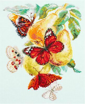 Magic Needle Cross Stitch Kit - Butterflies and Pears