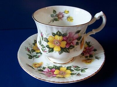Vintage Paragon Fine Bone China Floral Footed Tea Cup & Saucer A4615 England