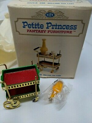 Petite Princess Fantasy Dollhouse Furniture Rolling Tea Cart Ideal