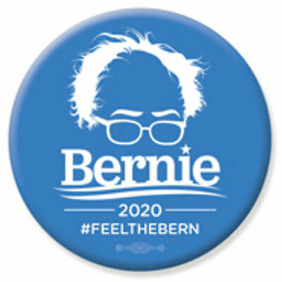 Bernie Sanders For President 2020 Feel The Bern 2.25 Inch Pinback Button Pin