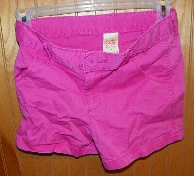 Girls Size 7 Faded Glory Pink Casual Shorts ####