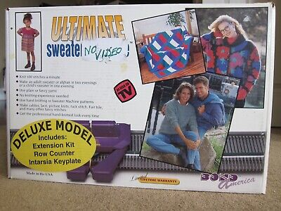 Vtg Ultimate Sweater Machine Deluxe With Extension