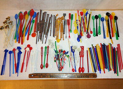 200 Vintage Swizzle Sticks - NYC Clubs - Airlines - New Jersey - Worldwide