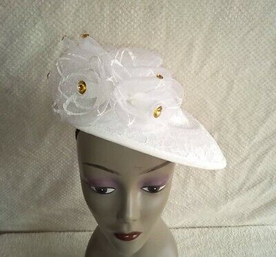 Large Headband and Clip Hat Fascinator Weddings Ladies Day Race Royal Ascot UK