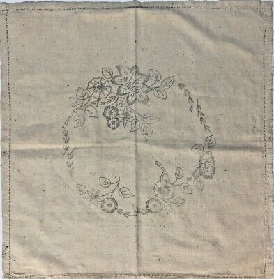 Vintage Linen to embroider a Square Cushion Cover. Design No 3021