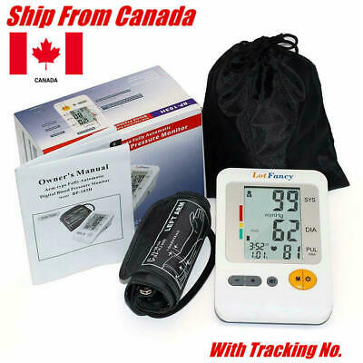 LCD Automatic Upper Arm BP Cuff Blood Pressure Monitor Heart Rate Monitoring CA