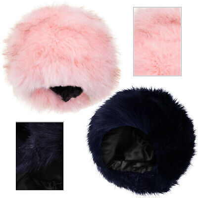 Kids Boutique Faux Fur Cossack Style Quilted Lining Girls New Fluffy Winter Hat