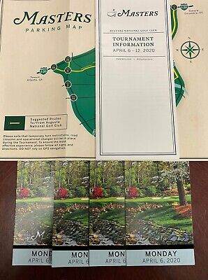 2020 Masters Practice Round Tickets For Monday April 6, 2020. (4 Tickets)