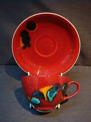 Poole Pottery Odyssey Large Breakfast Cup And Saucer.