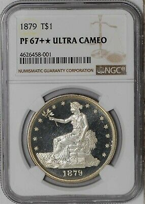 1879 Trade Dollar $ PF67+* Ultra Cameo NGC 938521-2