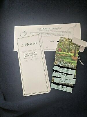 (4) tickets in-hand ready to ship-Monday April 6, 2020 Masters Practice Round