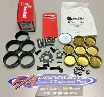Big Block Chevy AFTERMARKET BLOCKS GMP-12LT COATED Cam Bearing + Freeze Plug Kit