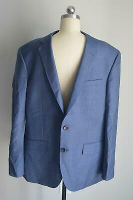 JCrew $398 Crosby Suit Jacket Double Vent Worsted Wool 40R Harbor Blue c3270