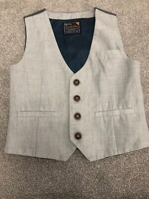 boys next waistcoat Age 3-4 Years Smart Special Occasion Wedding Party