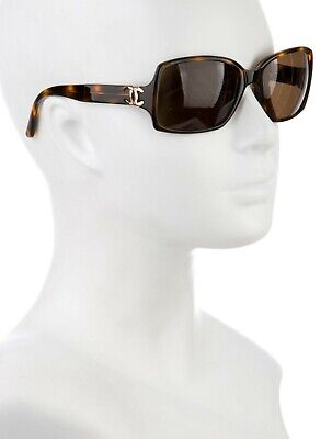 Authentic Chanel Tortoise Tinted Square Sunglasses