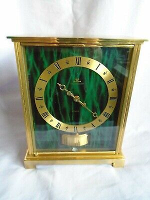 Jaeger Lecoultre Green Marbled Embassy Atmos Clock 1968 Just Fully Serviced