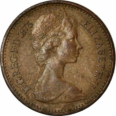 [#679609] Coin, Great Britain, Elizabeth II, 1/2 New Penny, 1975, VF(30-35)