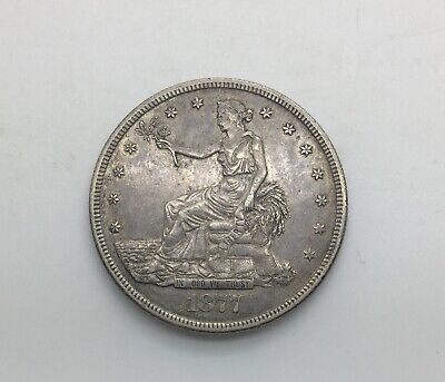 1877  S Trade Dollar Coin Very Decent Sharp Example Hints of underlying Lustre