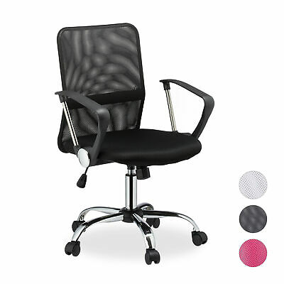Swivel Office Chair, Mesh Desk Chair, Study Seat on Casters