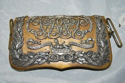 11th Hussars Prince Albert's Own Officers Pouch Belt Pouch 1857-1902 Pattern